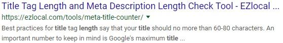 Title length